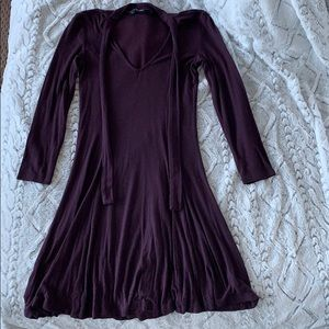 American Eagle Eggplant Soft & Sexy Swing Dress